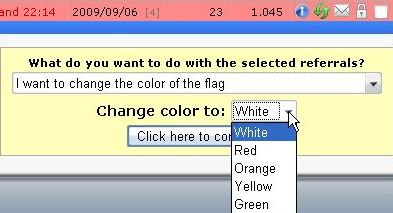 Выбор цвета флага