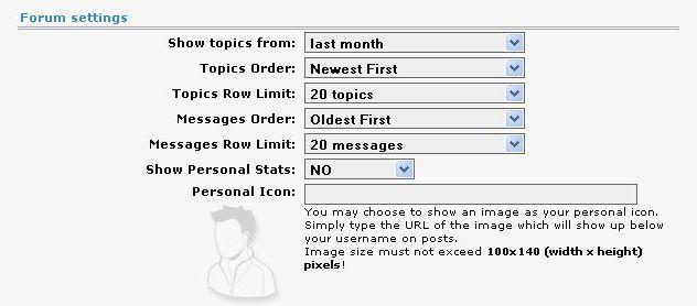Настройки форума