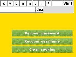 Восстановление пароля-имени---Очистка кукисов